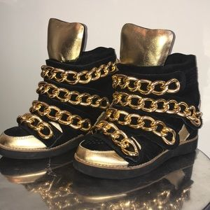 JEFFREY CAMPBELL ⭐️GOLD CHAIN WEDGE SNEAKERS⭐️